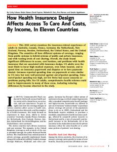 How Health Insurance Design Affects Access To Care ... - Economics