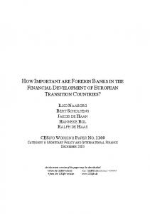 how important are foreign banks in the financial ... - SSRN papers