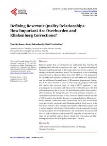 How Important Are Overburden and Klinkenberg Corrections?