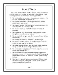 How It Works - Narcotics Anonymous