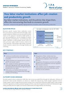 How labor market institutions affect job creation and productivity growth