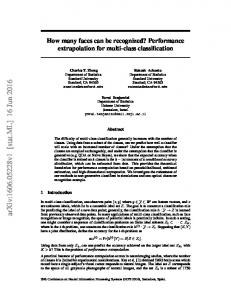 How many faces can be recognized? Performance extrapolation for ...