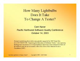 How Many Lightbulbs Does It Take To Change A ... - Testing Education