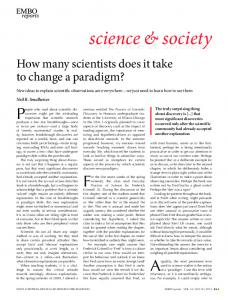 How many scientists does it take to change a ... - Semantic Scholar