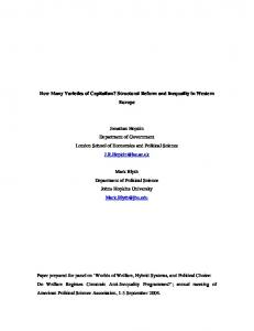 How Many Varieties of Capitalism? Structural Reform and ... - CiteSeerX