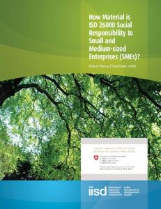 How material is ISO 26000 Social Responsibility to Small and ...