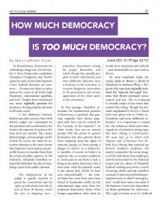 how much democracy is too much democracy? - Pitt Political Review