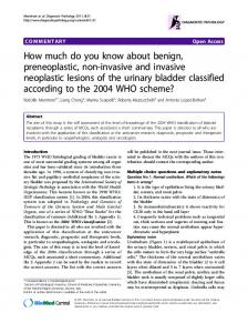 How much do you know about benign, preneoplastic ... - BioMedSearch