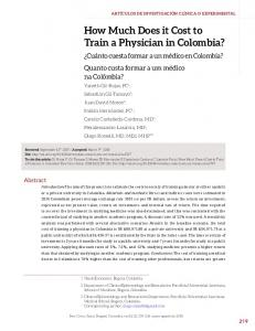 How Much Does it Cost to Train a Physician in Colombia? - Portal de ...
