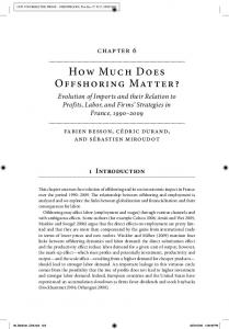How Much Does Offshoring Matter?