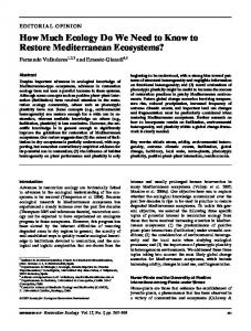How Much Ecology Do We Need to Know to Restore Mediterranean ...