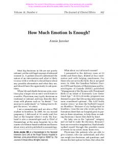 How Much Emotion Is Enough?