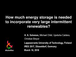 How much energy storage is needed to incorporate ...