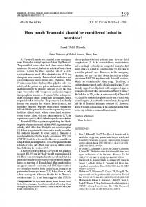 How much Tramadol should be considered lethal in overdose?