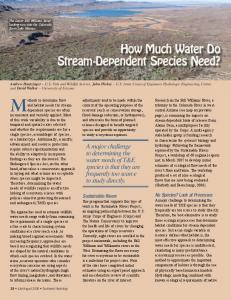 How Much Water Do Stream-Dependent Species Need? - Southwest ...