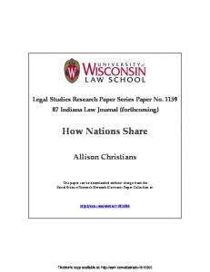 How Nations Share - SSRN
