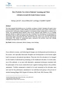 How Portfolio Use Affects Students' Learning and Their ... - CiteSeerX