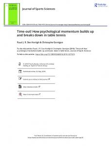 How psychological momentum builds up and breaks