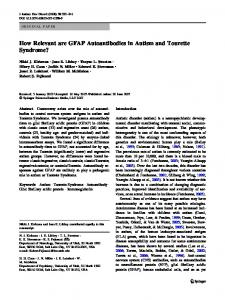 How Relevant are GFAP Autoantibodies in Autism and ... - Springer Link