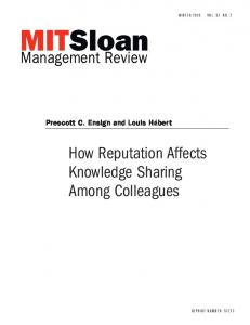 How Reputation Affects Knowledge Sharing Among Colleagues