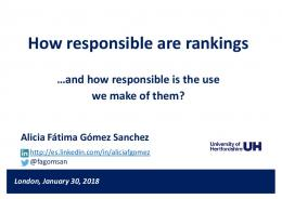 How responsible are rankings