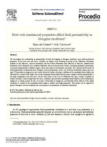 How rock mechanical properties affect fault permeability in ... - Core