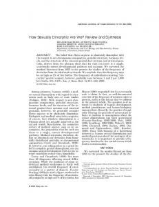How sexually dimorphic are we? Review and synthesis - (Androgen ...