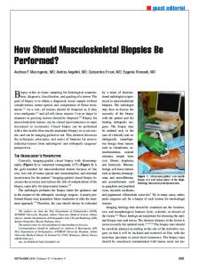 How Should Musculoskeletal Biopsies Be
