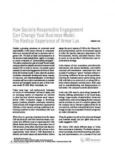 How socially responsible engagement can ... - Wiley Online Library