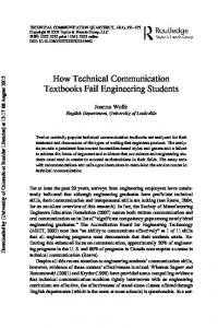 How Technical Communication Textbooks Fail Engineering Students