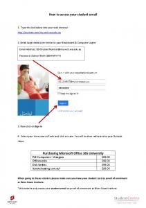How to access your student email Purchasing Microsoft Office 365 ...