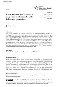 How to boost the Western response to Russian ... - SAGE Journals