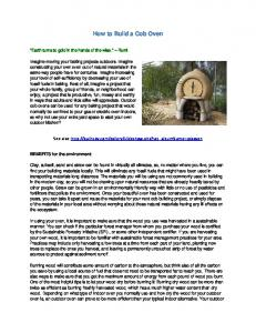 How to Build a Cob Oven