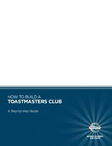 How to Build a Toastmasters Club