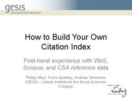 How to Build Your Own Citation Index