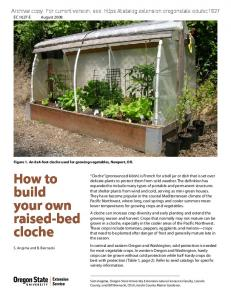 How to build your own raised-bed cloche - Oregon State University