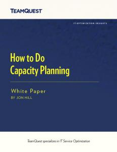 How to Do Capacity Planning - TeamQuest