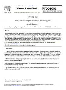 How to Encourage Students to Learn English? - Core