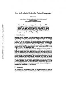 How to Evaluate Controlled Natural Languages
