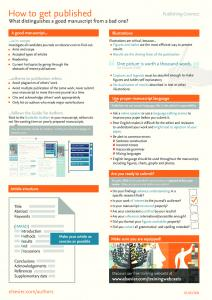 How to get published - Elsevier