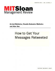 How to Get Your Messages Retweeted