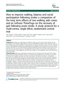 How to improve walking, balance and social ... - Springer Link