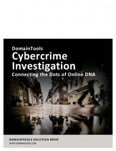 How to Investigate and Solve Cybercrime - DomainTools
