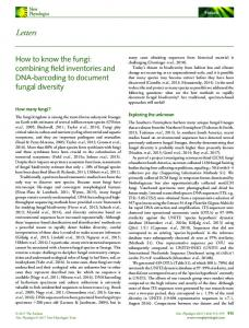 How to know the fungi: combining field ... - Wiley Online Library