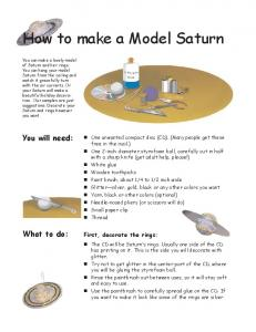 How to make a Model Saturn