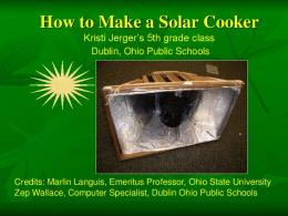 How to Make a Solar Cooker - Solar Cooking