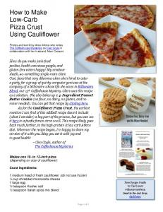 How to Make Pizza Crust Using Cauliflower