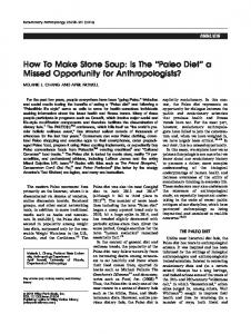 How To Make Stone Soup: Is The Paleo Diet a ... - Wiley Online Library