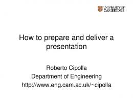 How to prepare and deliver a presentation