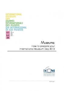 How to prepare your International Museum Day 2013 - The ...